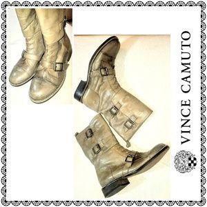 {Vince Camuto} FERGUS leather combat boots, sz 8.5